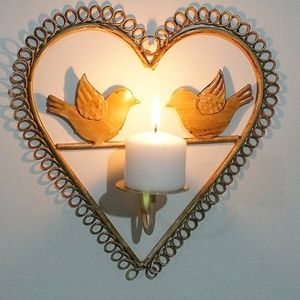 Other - Metal Wall Bird Candle Holder